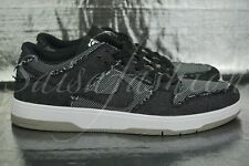NIKE SB ZOOM DUNK LOW ELITE QS MEDICOM BEARBRICK BLACK DENIM 877063-002 Sz 9.5