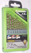 """Kawasaki 840286 13pc Titanium Drill Bit Set 5/64-15/64"""" 135 Deg Split Point"""
