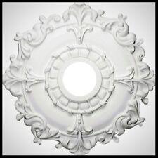 EKENA 18 Inch Ceiling Medallion White Plastic Chandelier Light Fan Decor Canopy