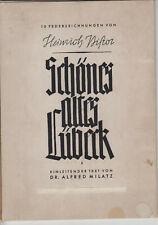 Schönes altes Lübeck - 10 Federzeichnungen von Heinrich Pistor - Drucke