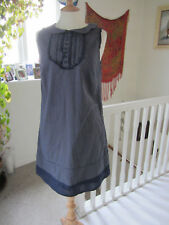 Monsoon Navy Spotted Lined Cotton Summer Dress Size M Great preloved condition.