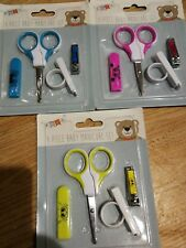 Baby Nail Care 4 Piece Cutter Scissors Clipper Manicure Pedicure Set GIFT