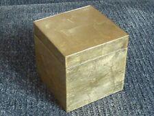 Gold leaf effect decorative trinket box storage with lid 10cm cube