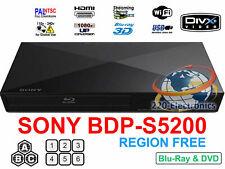 SONY BDP-S5200 Refurbished REGION FREE BLU-RAY DVD PLAYER ZONE A B C DVD 0-8 USB