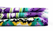 """Indian Purple Ikat Printed Fabric 44"""" Wide Pure Cotton Crafting Purpose By 5 YD"""