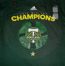Youth's Adidas Go To Tee 2015 PORTLAND TIMBERS MLS Cup Champions T Shirt Large L