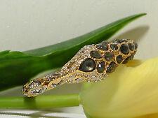 NEW Alexis Bittar Gold Snake Hinge Pyrite & Crystal Bangle.