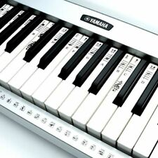 Electronic Piano Keyboard Music Note Stickers Decal Label Both Keys