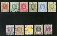 Seychelles 1903 KEVII set complete very fine used. SG 46-56. Sc 38-48.