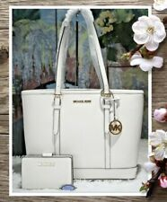 Michael Kors Jet Set Travel SM Small TZ Shoulder Tote Leather White 35s0gtvt1l