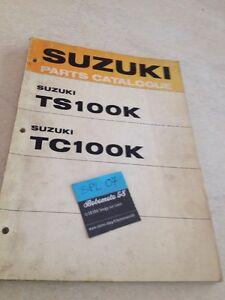Suzuki TC100 TS100 K Ts TC 100 Piezas List Catálogo Lista Pieza Suelta Ed. 73