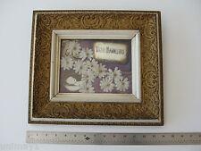 1800s American Memorial to Deceased Child photo silver plaque original frame