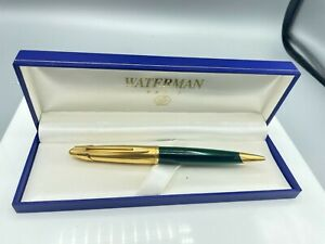 WATERMAN EDSON  Ballpoint Pen EMERALD GREEN  NEAR MINT  Boxed