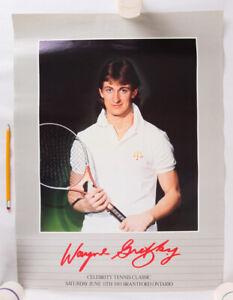 "Wayne Gretzky Celebrity Tennis Classic, 1983 Poster, 24"" x 18"", VG+"