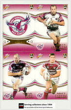 2007 Select NRL Invincible Trading Cards Base Team Set Manly (12)