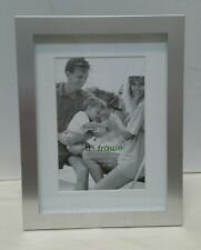 Silver paris brushed aluminum metal photo picture frame 4x6 6x8
