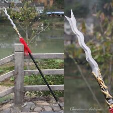 Golden Dragon Zhang eight snake lance Spear Stainless Steel Spearhead sword#0088