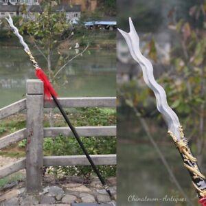 Golden Dragon Zhang eight snake lance Spear Stainless Steel Spearhead sword#0088