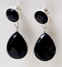 NATURAL SPINEL - Double Drop Earrings / Faceted - 925 Sterling Silver - New.