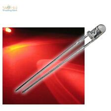 """50 Stück 3mm LEDs Rot Typ """"WTN-3-7000r"""", rote LEDs & Widerstand, red rouge rood"""