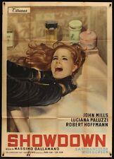 BLACK VEIL FOR LISA Italian 2F movie poster 39x55 1968 GIALLO LUCIANA PALUZZI