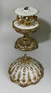 """Franklin Mint House of Faberge Imperial Carousel Egg 11"""" H As Is for Parts"""