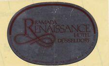 Deutschland Düsseldorf Ramada Renaissance Hotels Vintage Luggage Label sk3188