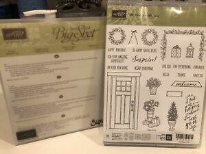 Stampin UpAT HOME WITH YOU Stamp & AT HOME Framelits Dies Retired Door Christmas