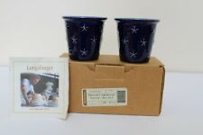 Longaberger Pottery Proudly American Votives ~ Set Of 2 ~ New In Box