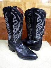 Dan Post Milwaukee Leather Sharp Toe Western Boots Black Size 9D