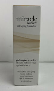 Philosophy Miracle Worker Anti-aging spf 30 Foundation Shade 9 new