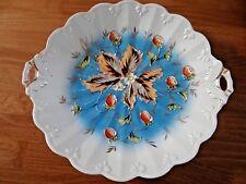 ANTIQUE GERMAN PLATE STRAWBERRY EMBOSSED FRUIT FLOWERS LEAVES PORCELAIN BOWL