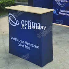 10ft Portable Trade Show Display Booth Exhibition with TV Bracket Podium Lights