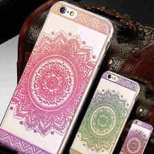 Mandala Estampado TPU Funda Carcasa para iPhone 6 6S 7 8/X 10 / Sumsung S6 S7 S8