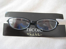 NICOLE MILLER CASHMERE TUXEDO BLACK Women Eyewear Eyeglasses Frame 51-16-135