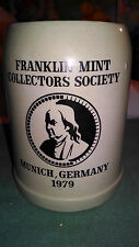 Franklin Mint Collectors Society Munich, Germany 1979 Beer Stein Mug 0.5L