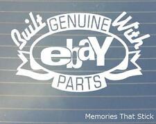 Built with Ebay Parts Car Window Bumper 4x4 JDM EURO VW DUB Vinyl Decal Sticker