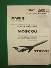 5/1971 PUB COMPAGNIE AERIENNE AEROFLOT SOVIET AIRLINES IL62 MOSCOW URSS CCCP AD