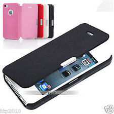 (Only Pink Left)  Ultra Slim Flip Leather Case Cover For Apple iPhone 4S 4