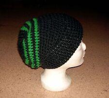 Beanie, Longbeanie in my boshi Style, selbstgehäkelt, dunkelgrau-grün