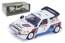 Spark S1297 Peugeot 205 Turbo 16 EV2 #1 Safari 1986 - Juha Kankkunen 1/43 Scale
