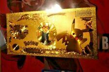 POKEMON GOLD BILLET B1D CARD GO CARTE YEN PIKACHU V2 JAPAN NEUF NEW MINT