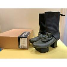 Trippen Women Platform Heel Style Happy Boots Gray Leather Size 40