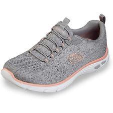 Skechers Empire D´Lux - LIVELY WIND Damen Sneaker Sportschuhe 12824 Grau