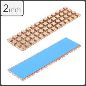Copper Heatsink 2mm Thermal Conductive Adhesive M.2 NVMe 2280 PCI-E SSD