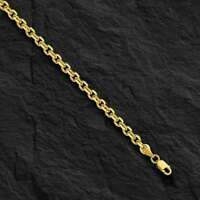 "14kt Yellow Gold Cable Link Pendant Chain/Necklace 18"" 4 mm  16 grams CAB100"