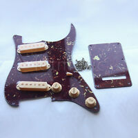 Set Brown Tortoise Electric Guitar Pickguard Cream Pickup Covers Knob For Strat