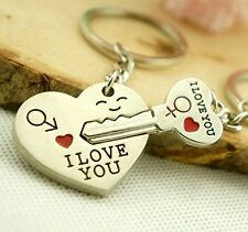 Valentine's Day His And Hers I LOVE YOU Couple Keychain Keyring Lover Gift NEW