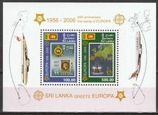 2006 Sri Lanka blok 102 50 jaar Europa CEPT postzegels cat waarde € 15