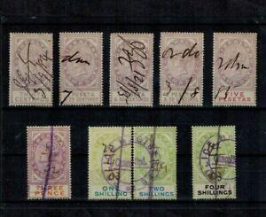 Gibraltar Queen Victoria Revenues Both Currencies All Used CV L150